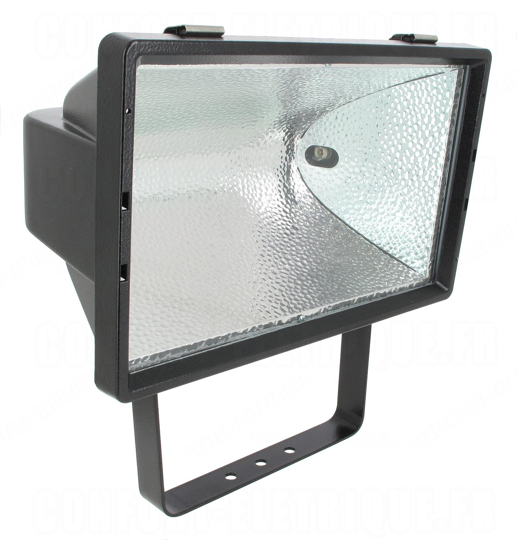 Projecteur ext rieur halog ne r7s 254 1500w aric mx1500 noir for Halogene exterieur