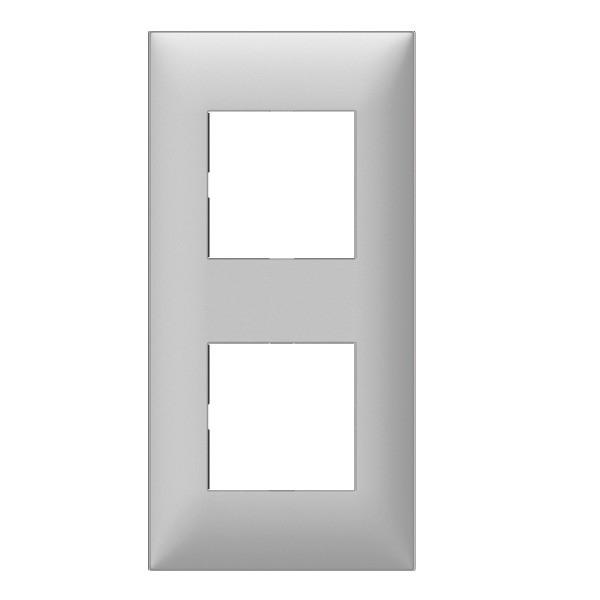 plaque 2 postes arnould espace evolution aluminium 5 76. Black Bedroom Furniture Sets. Home Design Ideas