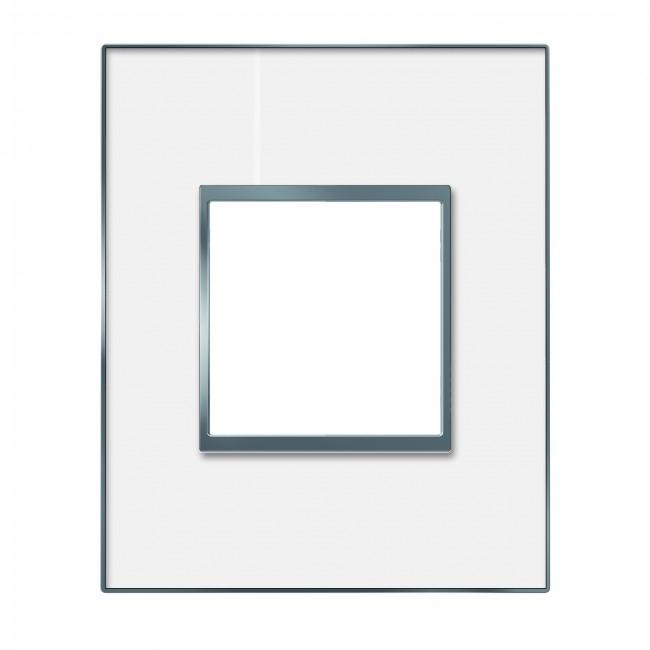 Plaque 1 poste arnould espace evolution miroir blanc 21 for Heure miroir 06h06