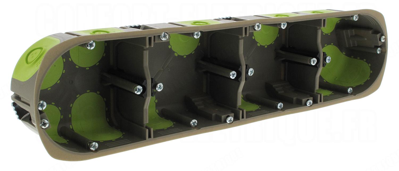 boite cloison s che 8 10 modules profondeur 40 mm bizline r 39. Black Bedroom Furniture Sets. Home Design Ideas