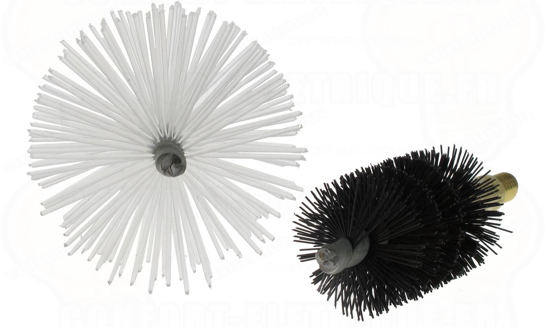kit de 2 brosses de ramonage pour baguette tire fil 45 18. Black Bedroom Furniture Sets. Home Design Ideas