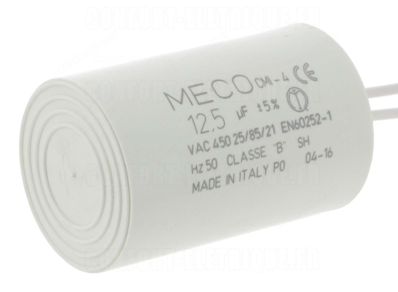 condensateur de d marrage a c bles 12 5 micro farad 12. Black Bedroom Furniture Sets. Home Design Ideas
