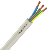 Cable souple h05vv f 3g2 5 mm blanc couronne de 100 m for Cable 3g2 5 brico depot