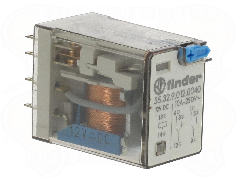 Relais 12 Volts : relais miniature 12 volts dc 2 contacts 10 amp res 27 77 ~ Nature-et-papiers.com Idées de Décoration