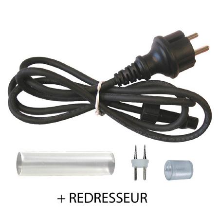 Pack de connexion avec redresseur pour cordon LED Festilight..