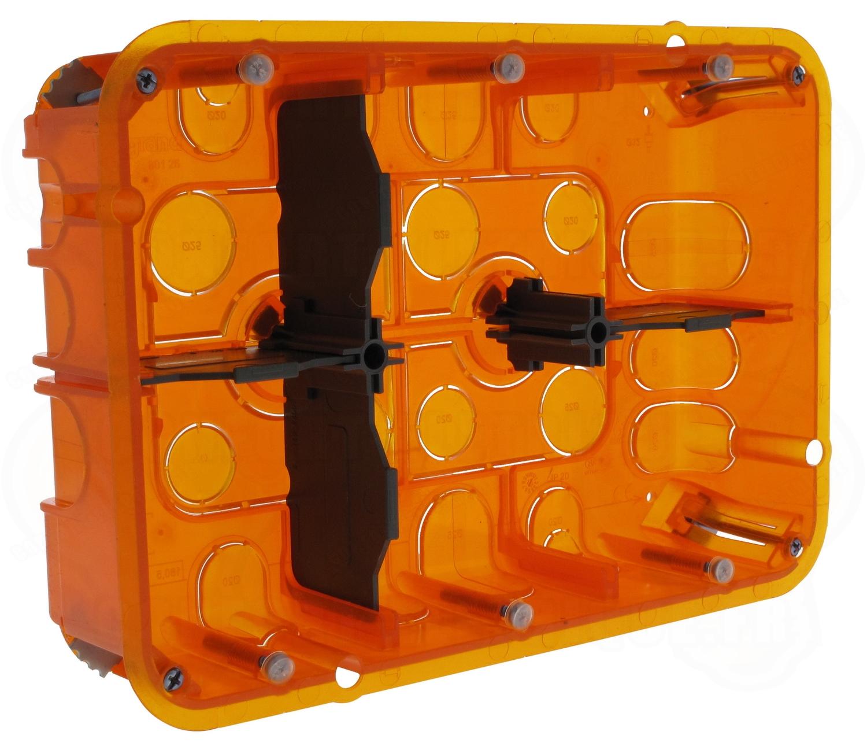 boite multi mat riaux 2 x 6 8 modules profondeur 50 mm legra. Black Bedroom Furniture Sets. Home Design Ideas
