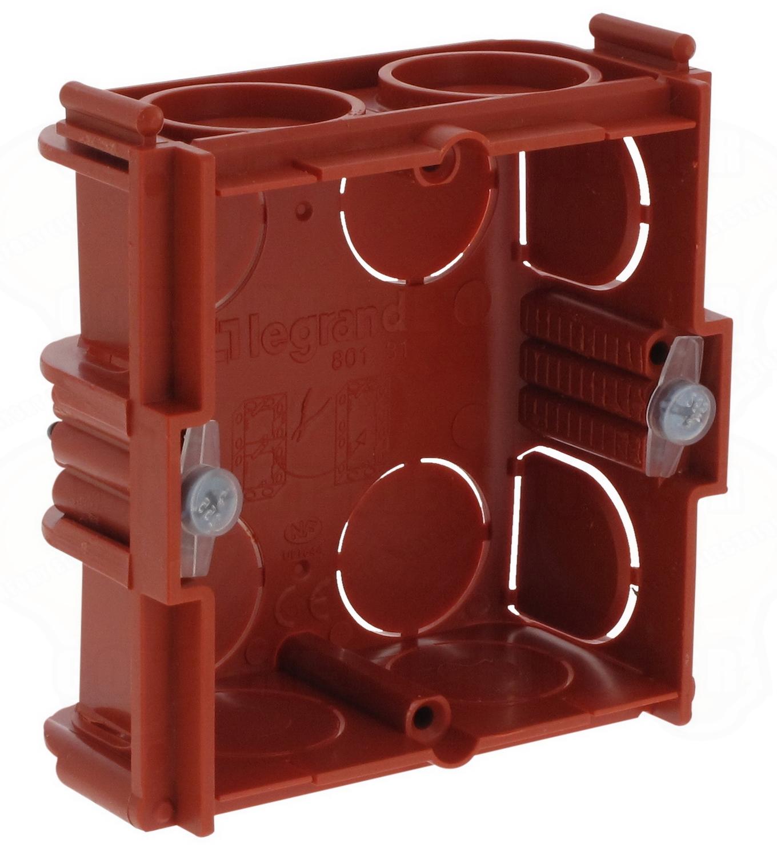 Boite Cache Prise Electrique boite 2 modules associable à sceller profondeur 30 mm legran..