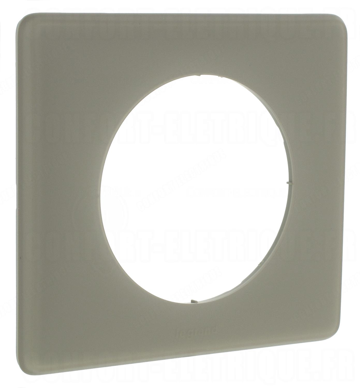 plaque legrand c liane 1 poste gr s 4 90. Black Bedroom Furniture Sets. Home Design Ideas