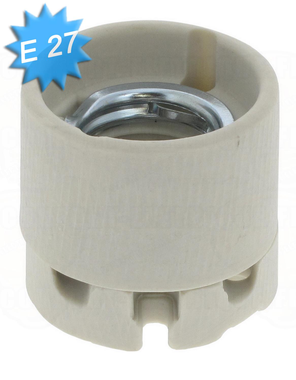Douille culot e27 en porcelaine 21 28 - Douille de chantier e27 ...