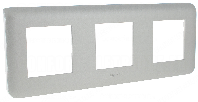 enjoliveur 3x2 modules horizontal legrand mosaic alu 12 68. Black Bedroom Furniture Sets. Home Design Ideas