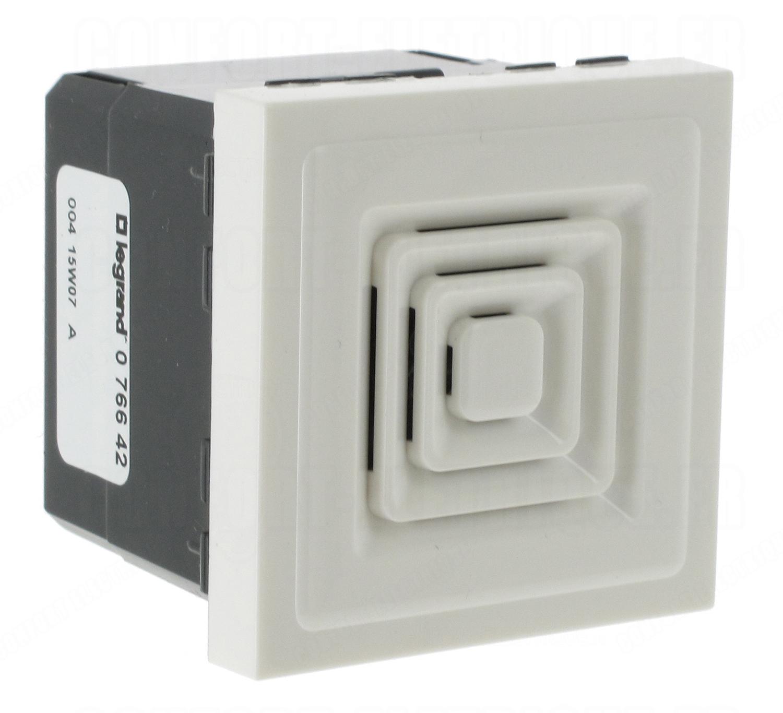 sonnerie timbre lectronique 2m blanc legrand mosaic 62. Black Bedroom Furniture Sets. Home Design Ideas