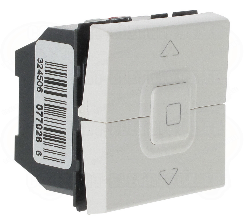 interrupteur volets roulants blanc legrand mosaic 34 62. Black Bedroom Furniture Sets. Home Design Ideas