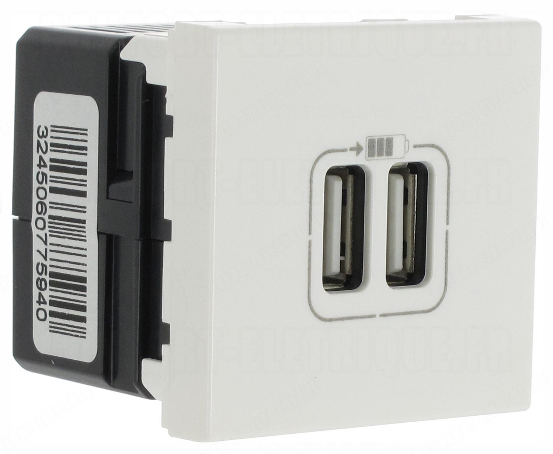 077594 Prise chargeur USB 2 ports Legrand