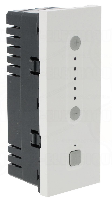 variateur de lumi re 5 modules blanc 1000w legrand mosaic. Black Bedroom Furniture Sets. Home Design Ideas