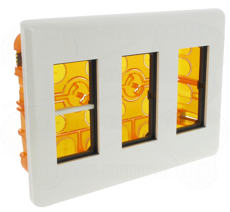 kit poste de travail encastr 3x4 modules legrand mosaic 4. Black Bedroom Furniture Sets. Home Design Ideas