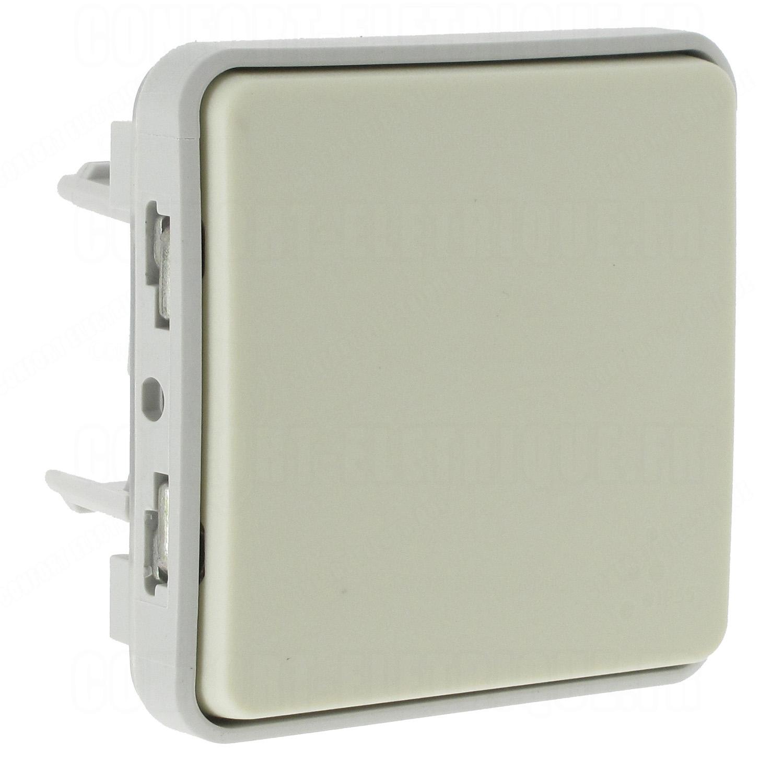 bouton poussoir legrand plexo 55 blanc composable 8. Black Bedroom Furniture Sets. Home Design Ideas
