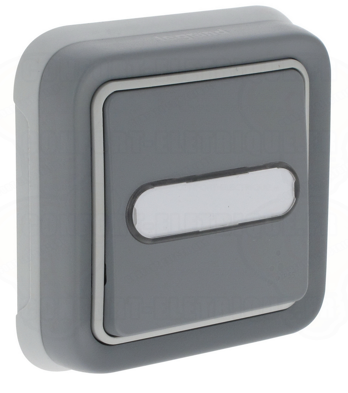 bouton poussoir porte tiquette legrand plexo gris com. Black Bedroom Furniture Sets. Home Design Ideas