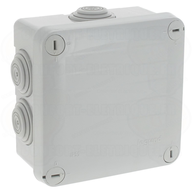 Gaine Electrique Exterieur Apparente boite de dérivation étanche 100 x 100 x 55 mm legrand plexo ..