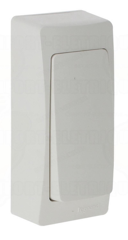 Va et vient saillie troit complet blanc 13 70 for Interrupteur exterieur legrand