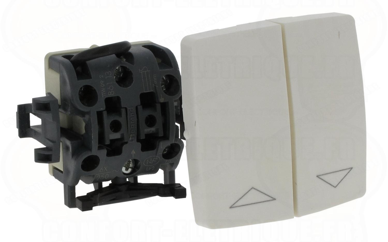 double interrupteur saillie composable pour volets roulants. Black Bedroom Furniture Sets. Home Design Ideas