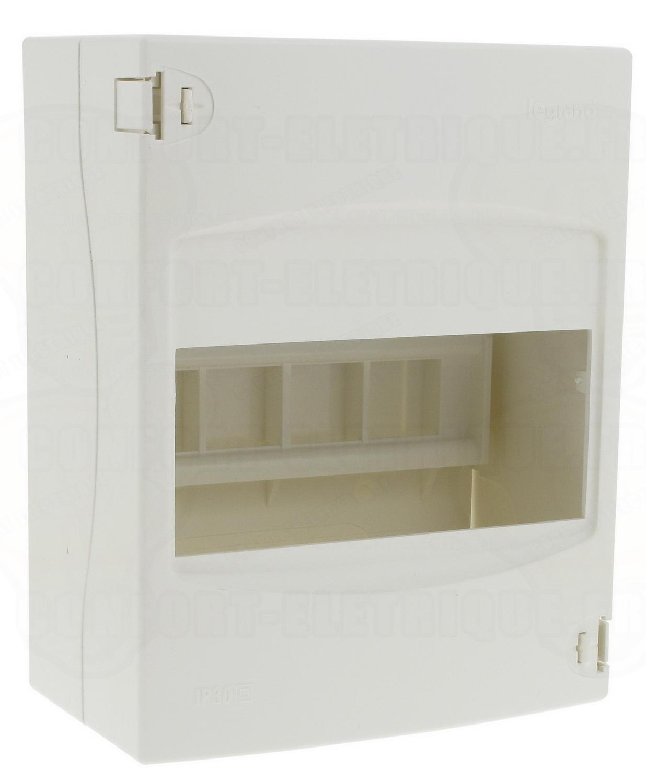 coffret legrand ekinoxe cache bornes 1 x 6 modules poser e. Black Bedroom Furniture Sets. Home Design Ideas