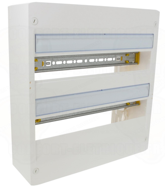 coffret legrand drivia 2 x 18 modules poser en saillie 8. Black Bedroom Furniture Sets. Home Design Ideas