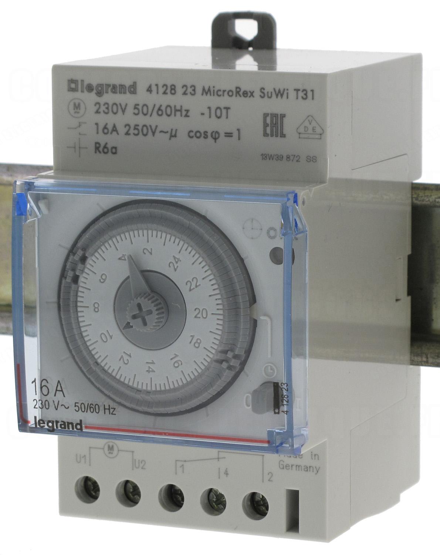 Horloge journali re 1 contact no nf legrand 412823 140 3 - Horloge tableau electrique ...