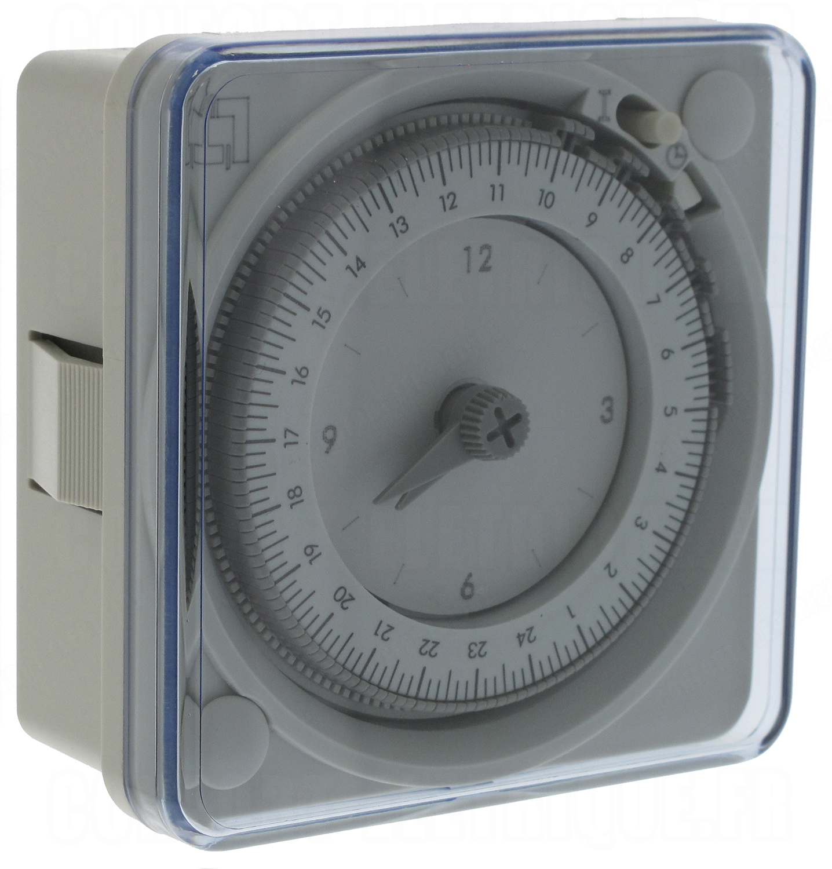 Horloge journali re 1 contact no nf languette legrand 4998 - Horloge tableau electrique ...