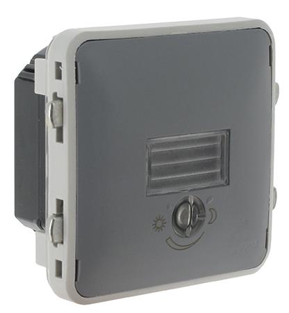 Interrupteur cr pusculaire watts legrand plexo 55 gris for Interrupteur exterieur legrand
