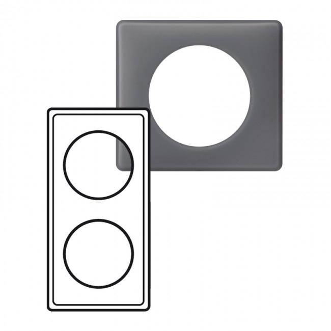 plaque legrand c liane 2 postes schiste 9 70. Black Bedroom Furniture Sets. Home Design Ideas