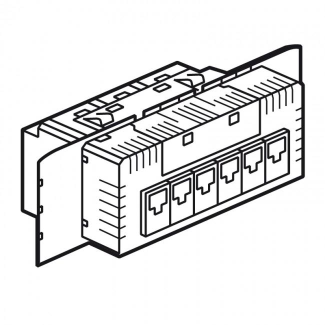 switch ethernet 10  100 base t encastrable legrand c u00e9liane