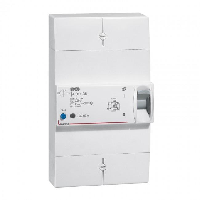 Disjoncteur diff rentiel de branchement 4 p les 32 63a 300ma - Branchement disjoncteur differentiel ...