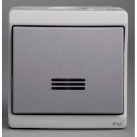 bouton poussoir lumineux 10 a gris ip55 saillie schn. Black Bedroom Furniture Sets. Home Design Ideas