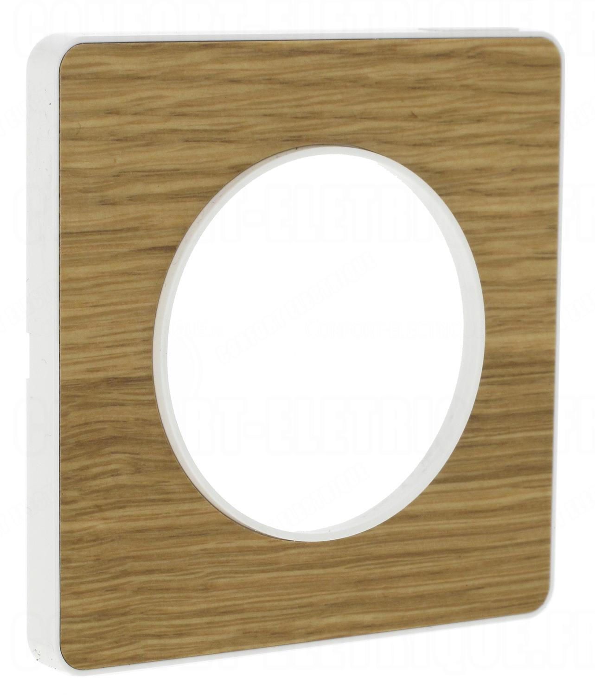 plaque schneider electric odace touch 1 poste bois natur. Black Bedroom Furniture Sets. Home Design Ideas
