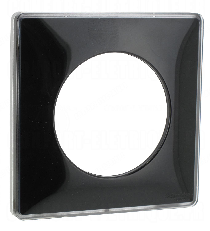 plaque schneider electric odace you 1 poste noir liser. Black Bedroom Furniture Sets. Home Design Ideas