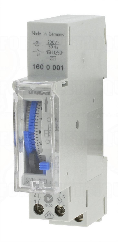 Horloge journali re 1 contact no theben syn 160 a 79 36 - Horloge tableau electrique ...
