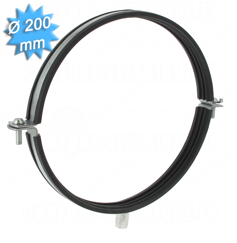 collier de fixation isol diam tre 200 mm avec filetage 10. Black Bedroom Furniture Sets. Home Design Ideas