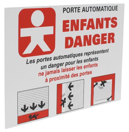 panneau enfants danger pour porte et portail automatique 4. Black Bedroom Furniture Sets. Home Design Ideas