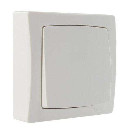 bouton poussoir saillie complet blanc 12 67. Black Bedroom Furniture Sets. Home Design Ideas