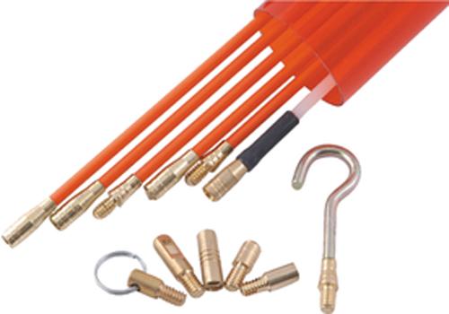 Kit baguette tire fils 10 m tres diam 6mm en fibre de verr - Aiguille tire fil 50 m ...