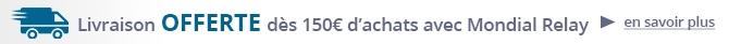 Livraison offerte dés 150 euros d'achat