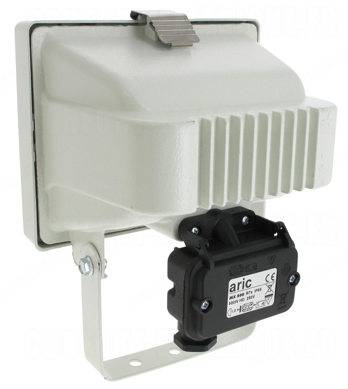 Projecteur ext rieur halog ne r7s 118 400w aric mx500 blanc for Projecteur exterieur 500 watts