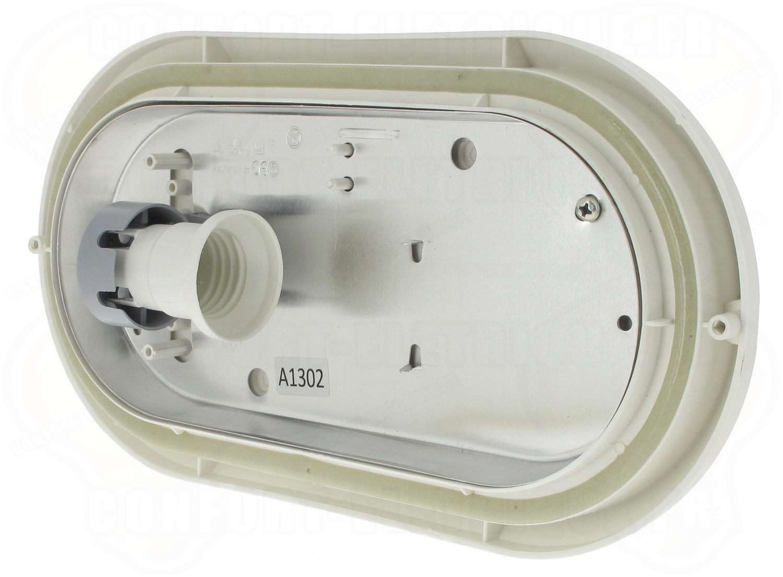 Hublot déco ovale extérieur 271mm e27 60w aric ovo 270 blanc..