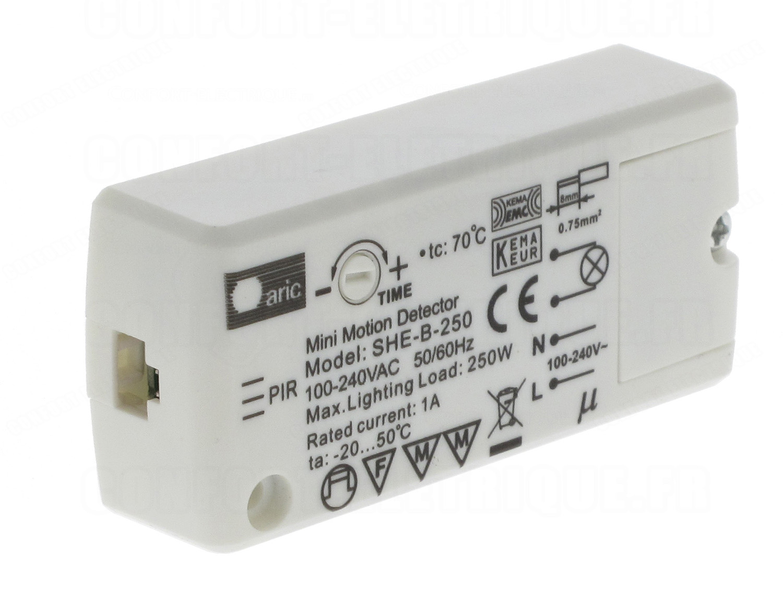 D tecteur de pr sence infrarouge tete d port e aric sensor - Prise detecteur de presence ...