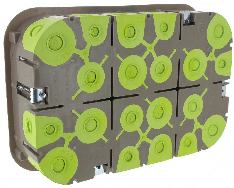 boite cloison s che 2 x 6 modules profondeur 50 mm bizline r. Black Bedroom Furniture Sets. Home Design Ideas