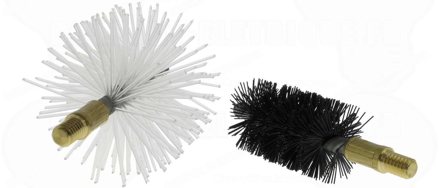 kit de 2 brosses de ramonage pour baguette tire fil 43 44. Black Bedroom Furniture Sets. Home Design Ideas