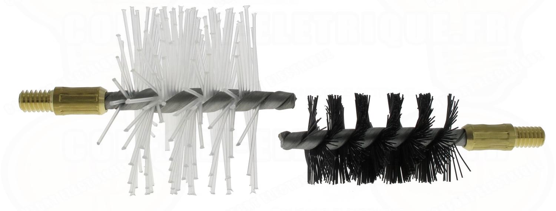 Kit de 2 brosses de ramonage pour baguette tire fil 43 44 - Kit de ramonage ...