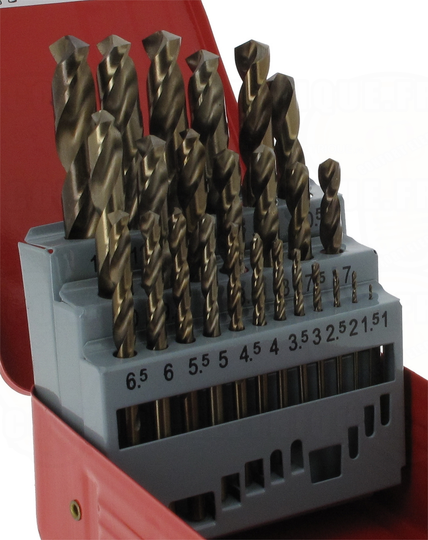coffrets de 25 forets m taux hss cobalt 188 41. Black Bedroom Furniture Sets. Home Design Ideas