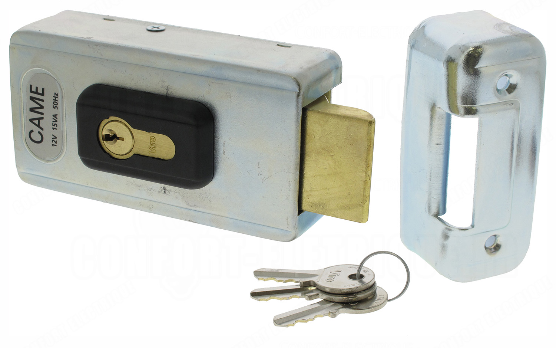 serrure lectrique came lock82 avec cylindre double 157 25. Black Bedroom Furniture Sets. Home Design Ideas