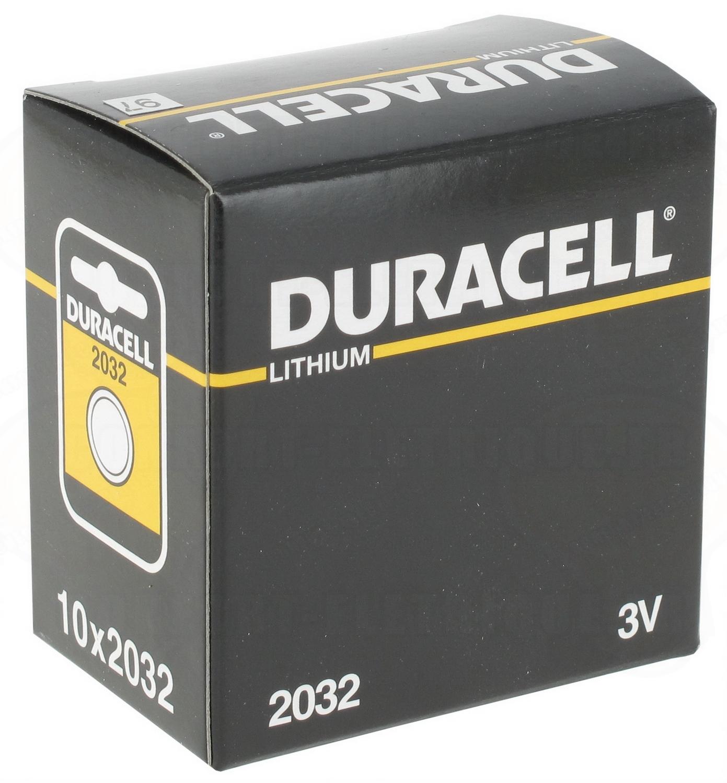 pile cr2032 3v duracell au lithium par 10 21 00. Black Bedroom Furniture Sets. Home Design Ideas